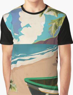 Barbados vintage travel poster Graphic T-Shirt