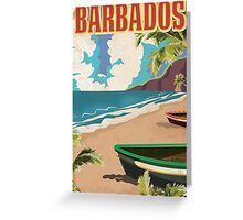 Barbados vintage travel poster Greeting Card