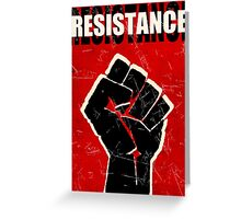 Resistance - ONE:Print Greeting Card
