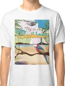 Caribbean Island Vintage retro travel poster  Classic T-Shirt