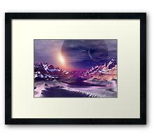 Alien Planet - Fantasy Landscape Framed Print