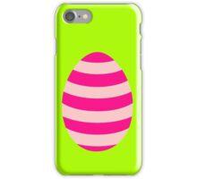 Pink striped Easter Egg iPhone Case/Skin