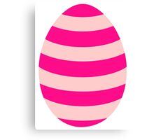Pink striped Easter Egg Canvas Print