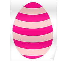 Pink striped Easter Egg Poster