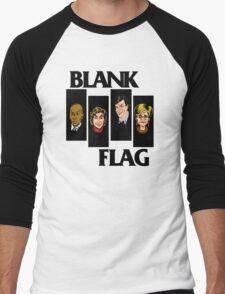 BLANK FLAG  ( Strangers With Candy ) Men's Baseball ¾ T-Shirt