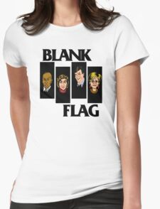 BLANK FLAG  ( Strangers With Candy ) Womens Fitted T-Shirt