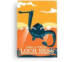 Loch Ness Scotland highlands vintage monster Poster Canvas Print