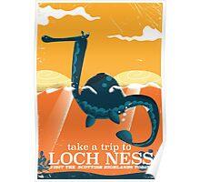 Loch Ness Scotland highlands vintage monster Poster Poster
