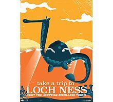 Loch Ness Scotland highlands vintage monster Poster Photographic Print