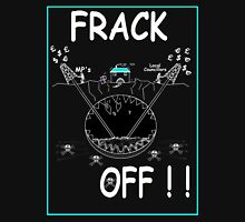 FRACK OFF Reversed Womens Fitted T-Shirt