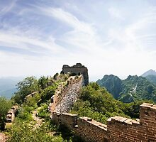 Wild Great Wall of China Panorama by SeeOneSoul