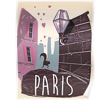 Always my love - Paris travel poster  Poster