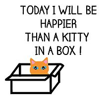 Happier than a kitty in a box CATS Photographic Print