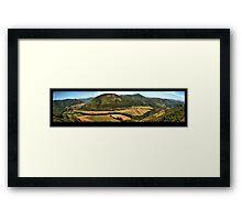 Scenery of hills Framed Print