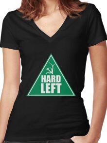 NSW GREENS HARD LEFT FACTION Women's Fitted V-Neck T-Shirt