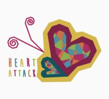 Heart Attack Colorful Pattern Kids Tee