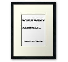 I've Got 99 Problems: Erik Lehnsherr Framed Print