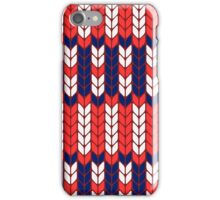 Funny knitted pattern iPhone Case/Skin