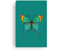 Colorful Butterfly Illustration Canvas Print