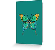Colorful Butterfly Illustration Greeting Card