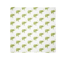 Green elephant watercolor art print painting Scarf