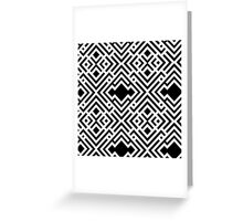 Abstract seamless scandinavian style striped background, textile pattern Greeting Card