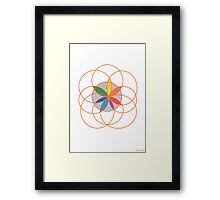 1102 - Seed of Life in Orange Outfit Framed Print