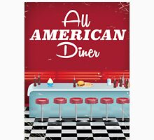 All American Diner Retro Poster Classic T-Shirt