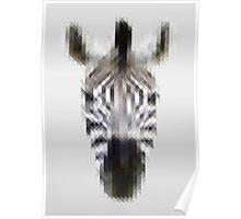 Pixelated Zebra Poster