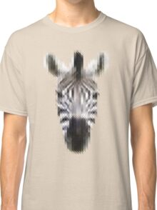 Pixelated Zebra Classic T-Shirt