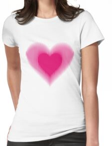 My Heart Beats For You Womens Fitted T-Shirt