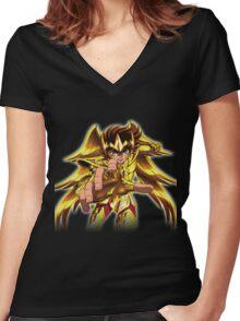 saint seiya Women's Fitted V-Neck T-Shirt