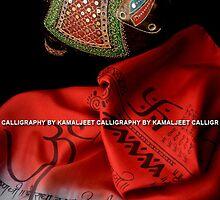 CALLIGRAPHY STOLE by Kamaljeet Kaur