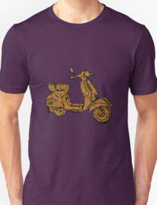 Rusty Vespa Scooter Piaggio T-Shirt