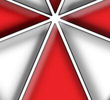 Umbrella Corporation Red And White Sticker