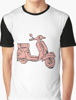 Pink Vespa Scooter Graphic T-Shirt