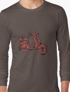 Pink Vespa Scooter Long Sleeve T-Shirt