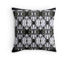Complex black and white. Throw Pillow