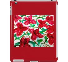 Cherry Red Hibiscus Field Floral iPad Case/Skin