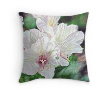 Alstroemeria - abstract Throw Pillow