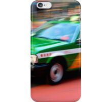 shinjuku taxi zooms by iPhone Case/Skin