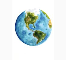 Earth america watercolor poster Unisex T-Shirt