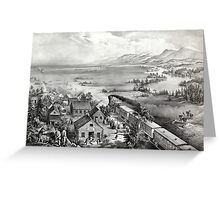 Across the continent, Westward the course of empire takes its way - 1868 Greeting Card