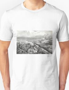 Across the continent, Westward the course of empire takes its way - 1868 T-Shirt