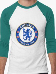 Chelsea FC Tile Pattern  Men's Baseball ¾ T-Shirt