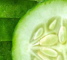 Cucumber slices Sticker