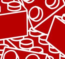 Red with white bricks Sticker