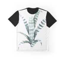 Tiger Plant Watercolor Painting Graphic T-Shirt