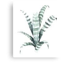 Tiger Plant Watercolor Painting Metal Print