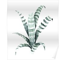Tiger Plant Watercolor Painting Poster